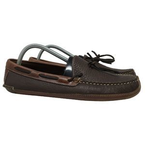 L.L. Bean Mens Bison Double Sole Moccasin Slippers